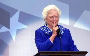 Umrla je nekdanja prva dama ZDA Barbara Bush