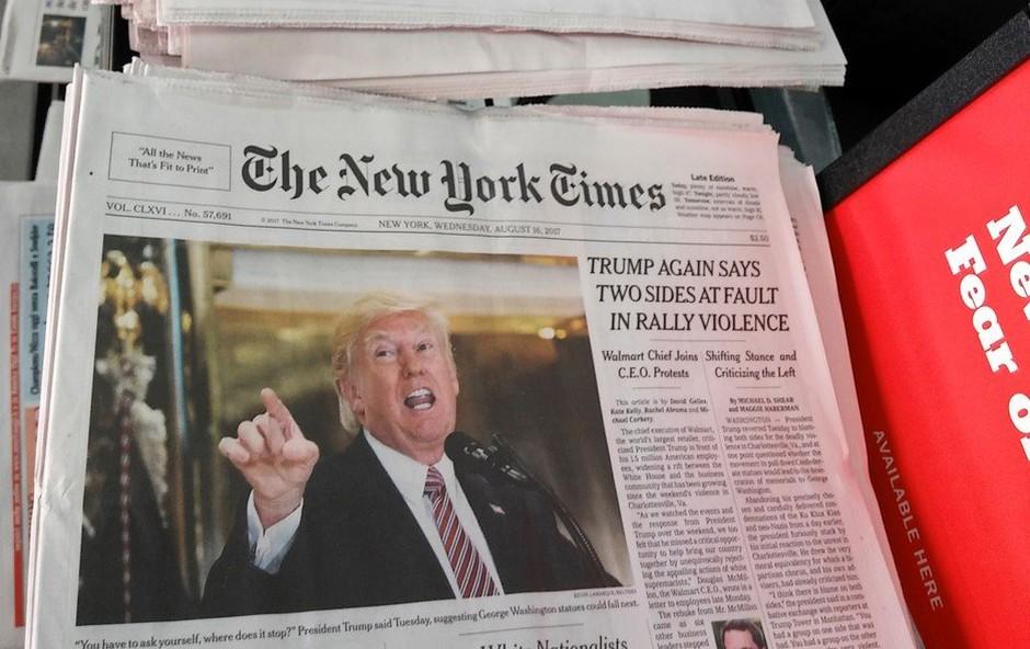 Trumpovi napadi so dobri za medije, ki jih ne mara (foto: profimedia)
