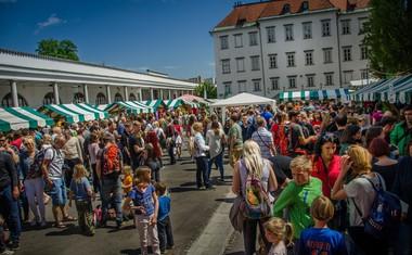 Vegafest na ljubljanskem Pogačarjevem trgu
