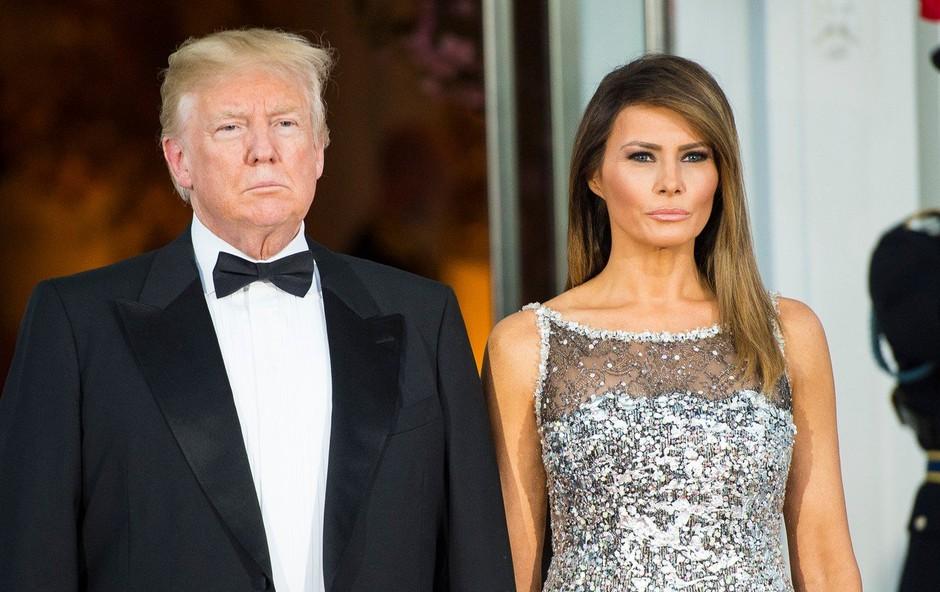 Melania Trump je za rojstni dan od Donalda dobila 'čudovito čestitko in čudovite rože'! (foto: profimedia)