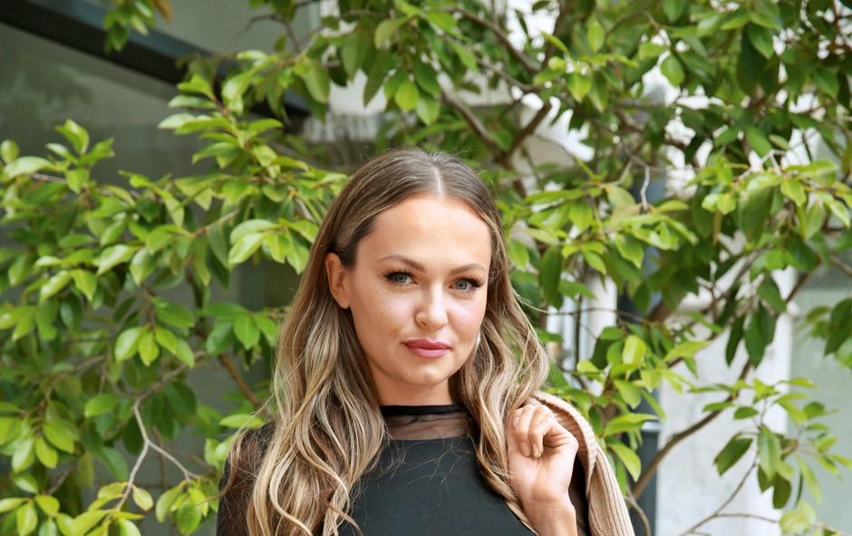 Iryna Osypenko osupnila na modnem dogodku v Ljubljani (foto: Helena Kermelj)