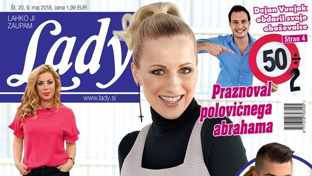"""Miha Vodičar in Kristina Pangos: """"Oba si želiva sproščene in zabavne poroke."""" (foto: LADY)"""