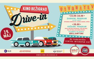 Drive-in kino Bežigrad bo 19. maja odprla Briljantina!