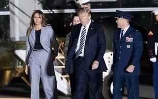 Vsi govorijo o hlačah, ki jih je nosila Melania Trump
