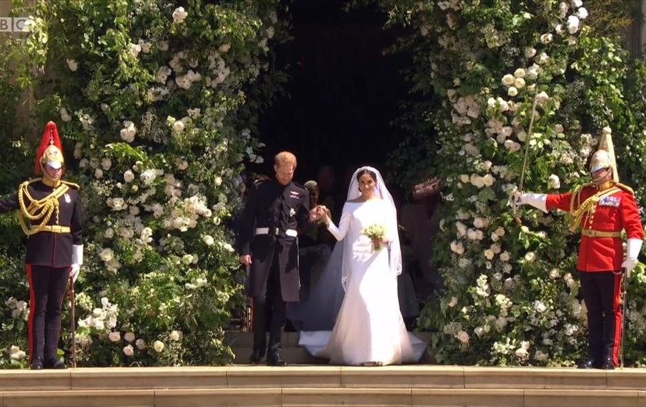 Harry in Meghan sta se na poroki na ganljiv način spomnila princese Diane (foto: Profimedia)