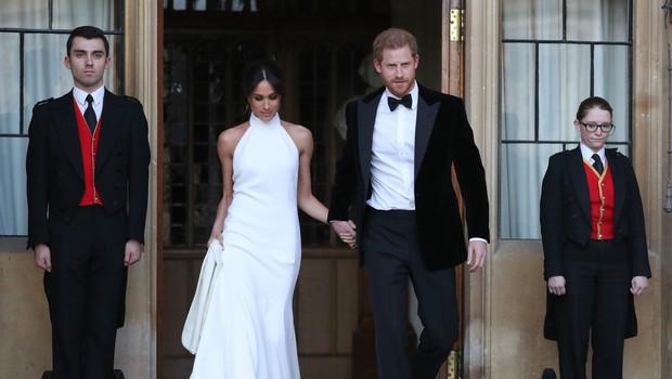 Poglejte si, kakšno obleko je Meghan Markle nosila na sprejemu pri princu Charlesu (foto: Profimedia)