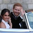 Pes Meghan Markle se je na poroko pripeljal skupaj s kraljico Elizabeto