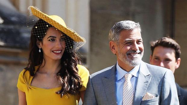 George Clooney na kraljevi poroki plesal s Kate Middleton in Meghan Markle, ena dama pa ga je zavrnila (foto: Profimedia)