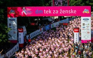 13. dm tek za ženske: več kot 7.000 tekačic je preplavilo ljubljanski park Tivoli