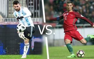 Messi in Ronaldo iz oči v oči!