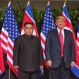 Donald Trump in Kim Jong Un sta se posladkala s čokoladno torto