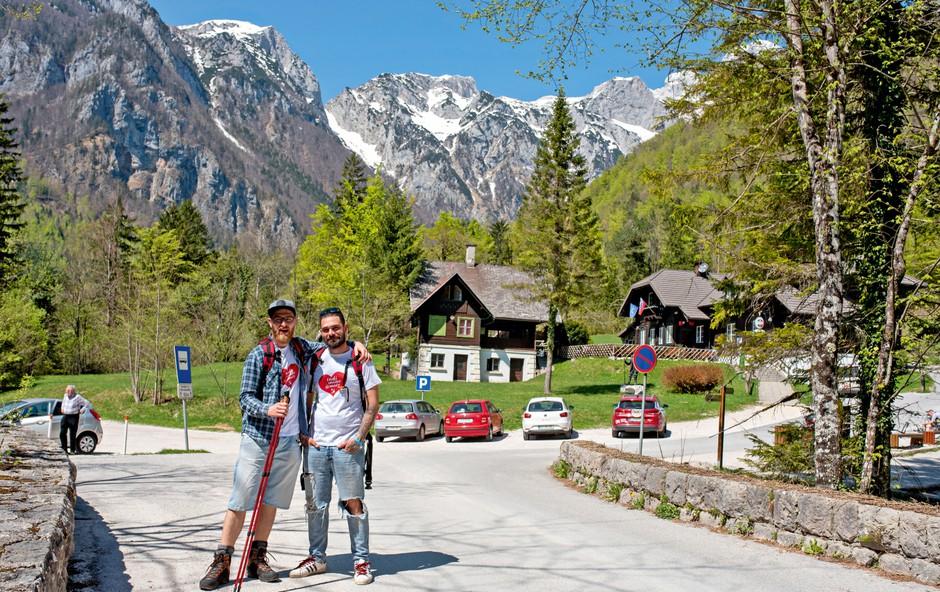 Jani Jugovic in Gašper Bergant sta začela hoditi v hribe (foto: Osebni arhiv)