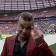 Nastop Robbieja Williamsa na SP-ju v Rusiji je minil čisto v njegovem slogu!