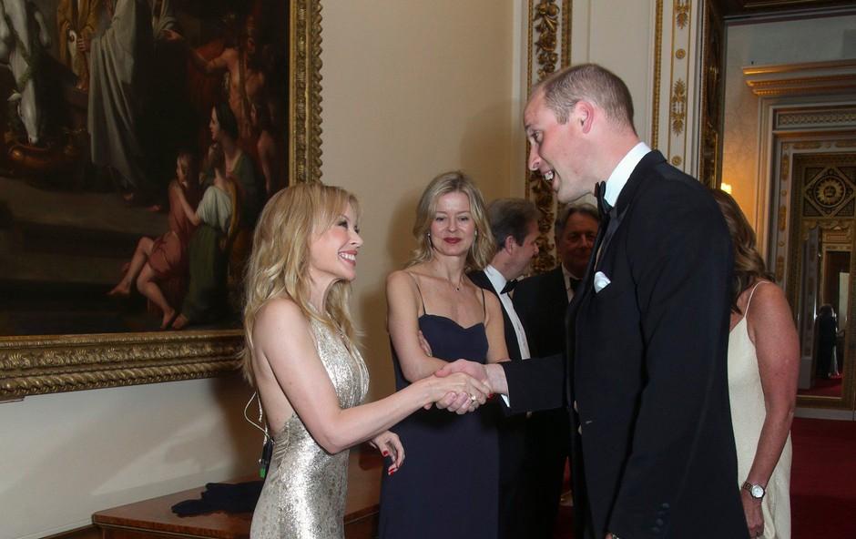 Kylie Minogue na večerji s princem Williamom (foto: Profimedia)