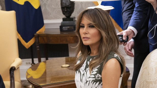 Španska kraljica Letizia blestela, Melania Trump ves čas brezvoljna (foto: Profimedia)