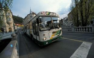 Požar na avtobusu v središču Ljubljane
