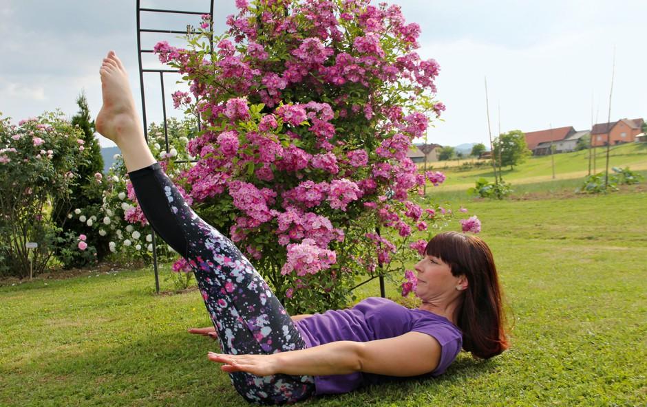 Pilates: Vsak gib najprej izvedemo v možganih (foto: osebni arhiv)