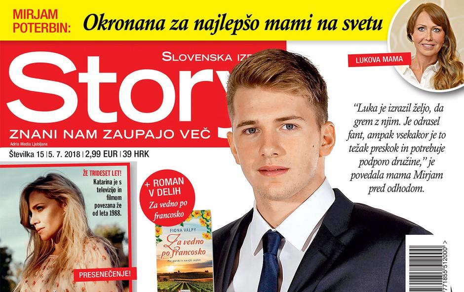 Luka Dončić in Mirjam Poterbin: Selitev v Ameriko (foto: revija Story)