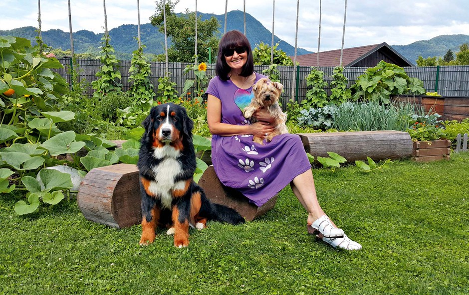 Nataša Bešter v vlogi vrtnarke: Bazilika in paradižnik sta najboljši dvojec (foto: osebni arhiv )