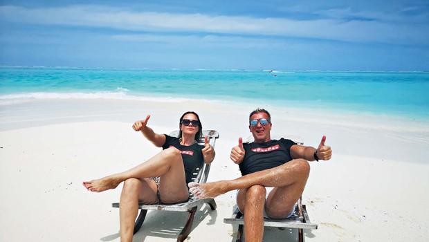Rebeka Dremelj in Werner skupaj na dopustu (foto: osebni arhiv )