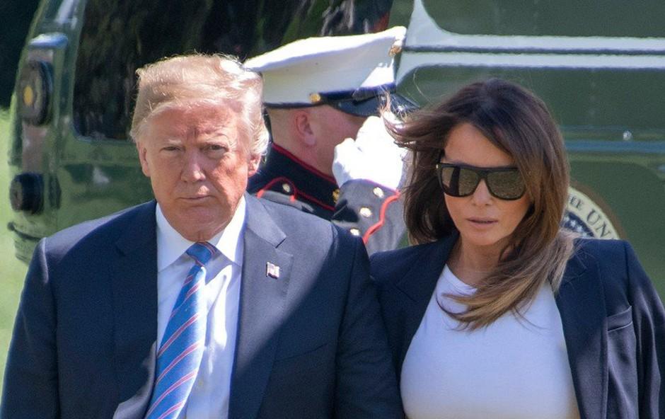 Trump naj bi po poročanju New York Timesa povsem pobesnel, ker je Melania gledala CNN (foto: profimedia)
