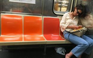 Poglejte si, kaj je Katie Holmes delala na podzemni železnici