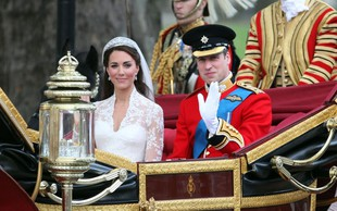 Kate Middleton in princ William na poročno noč kršila kraljeva pravila
