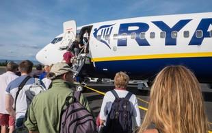 Vnovična omejitev ročne prtljage pri Ryanairu, nekaj sprememb tudi za oddane kovčke