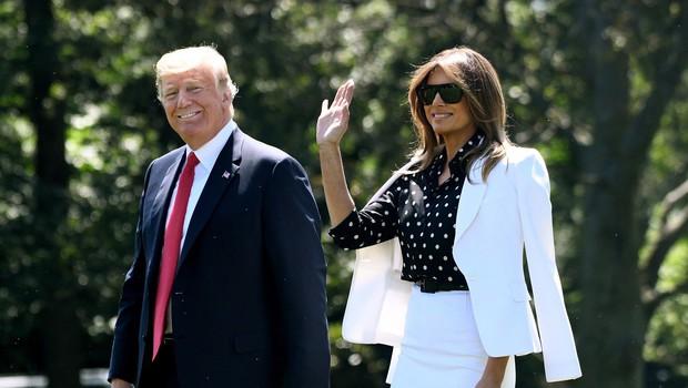 Ima Melania Trump zares dvojnico, ki jo nadomešča, ko ji ni do tega, da bi spremljala Donalda Trumpa? (foto: Profimedia)