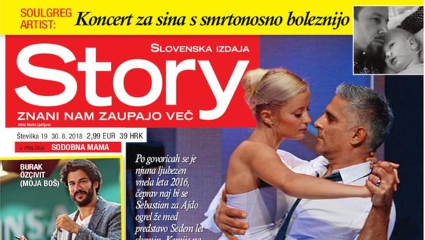 Ajda Smrekar in Sebastian Cavazza: Dve leti ljubezni (foto: story)
