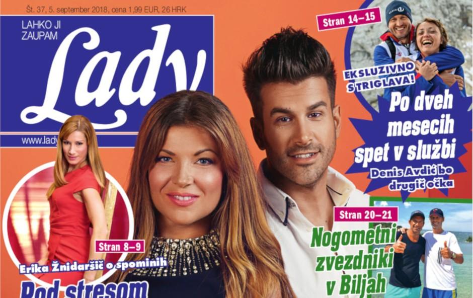 Jasna Kuljaj in Domen Kumer, nov voditeljski par: Začela v vaški gostilni (foto: Lady)