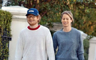 Ed Sheeran na skrivaj skočil v zakonski stan