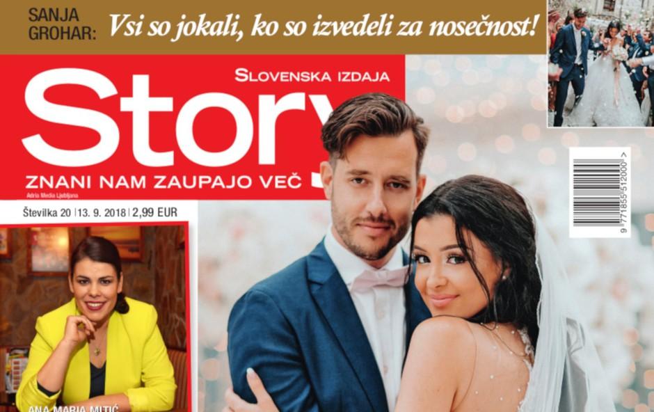 Sanja Grohar: Pod poročno obleko skrivala trebušček (foto: story)