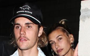 Justin Bieber in Hailey Baldwin že od četrtka poročena