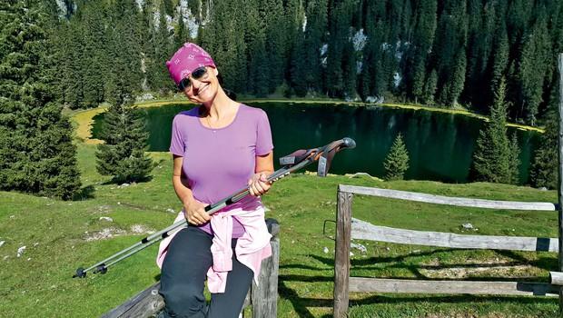 Nataša Bešter se v gore vedno odpravi z glavo (foto: osebni arhiv)
