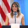 Melania Trump spet očarala z modno izbiro