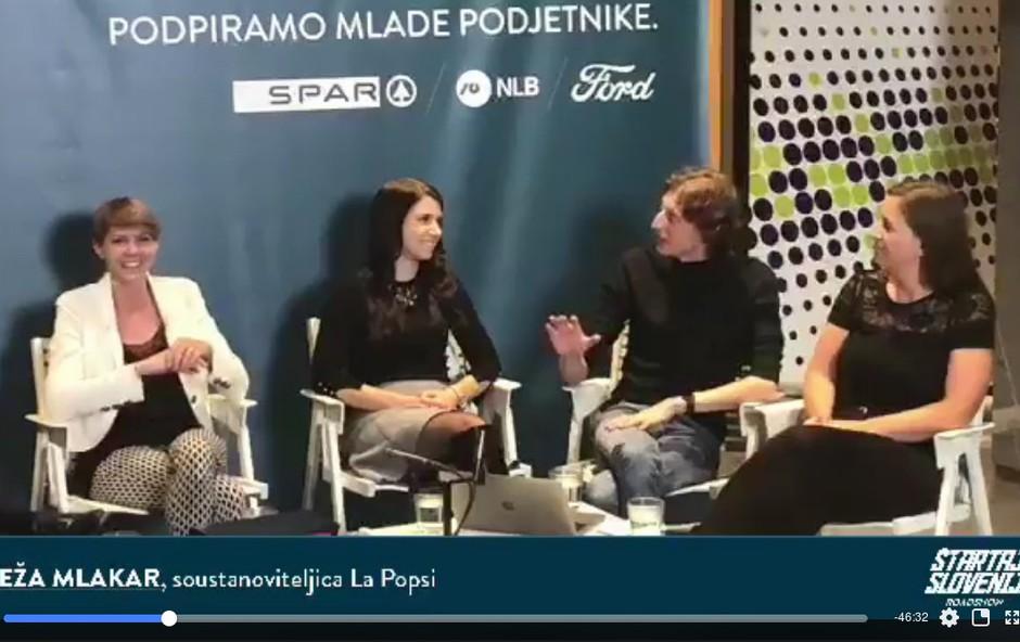 Ekipa La Popsi z Matijo Goljarjem in gosti na Štartaj Slovenija Roadshow Live (foto: Facebook Štartaj Slovenija)