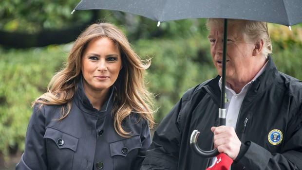 VIDEO: Ameriškemu predsedniku Trumpu je dežnik povzročal preglavice (foto: Profimedia)