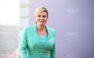 """Grabar-Kitarovićeva o meji in migrantih: """"Seveda je potrebne malo sile, da bi potisnili ljudi."""""""