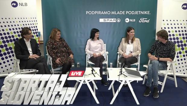 Anja Bordon iz Gaia naturelle z Matijo Goljarjem in gosti na Roadshow Live (foto: Facebook Štartaj Slovenija)