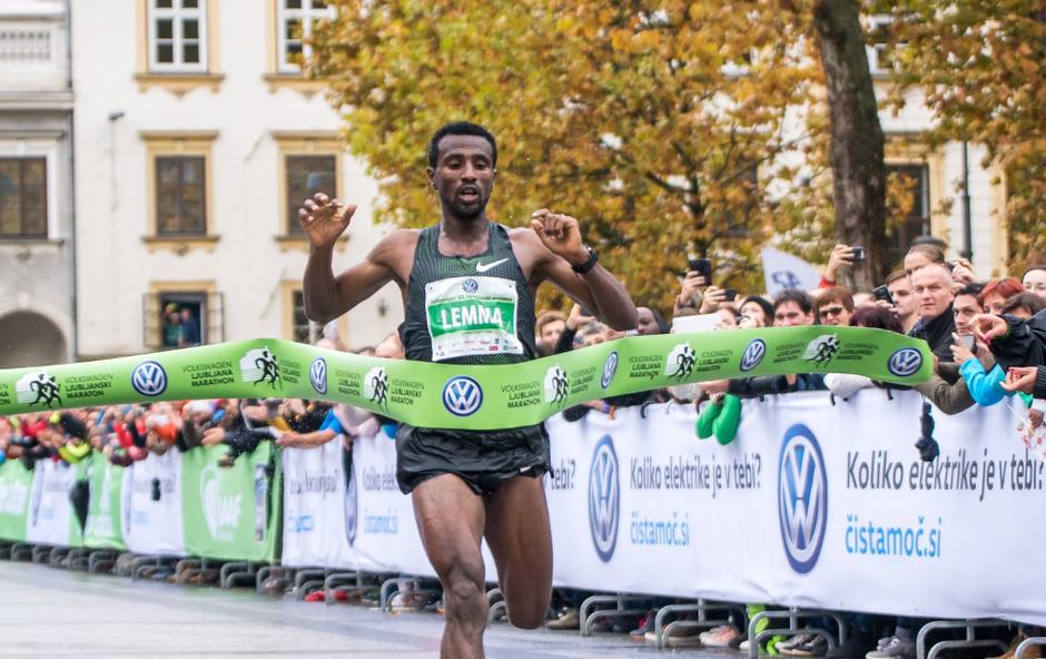 Na ljubljanskem maratonu padali dež in rekordi (foto: Atletska zveza Press)