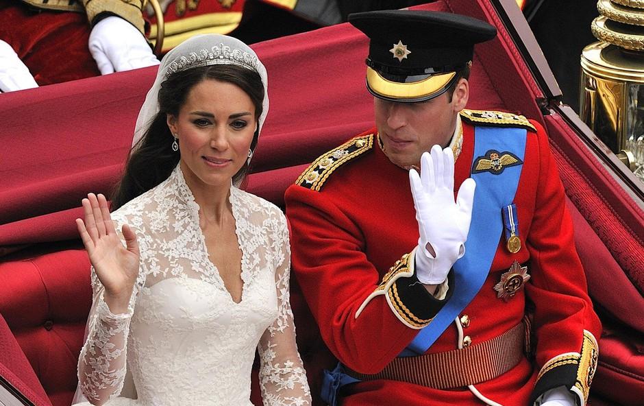 Kate Middleton se je za svojo poroko kar sama naličila (foto: Profimedia)