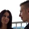 Tamara Korošec in Renato Lužar že v poročnih oblačilih