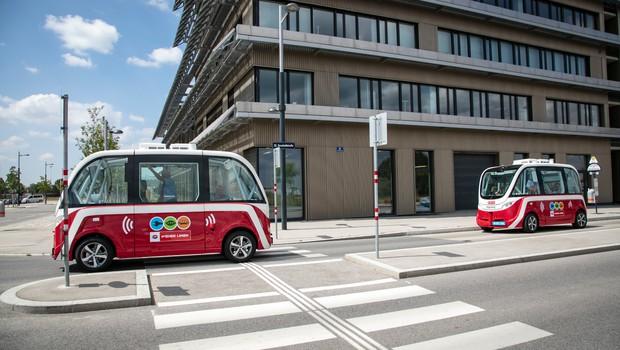 Dunajski samovozeči avtobusi uspešno prestali testiranje (foto: Seestadt Press)