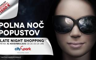 Nočno nakupovanje v Cityparku bo ta petek