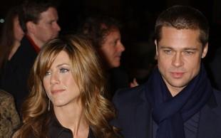 Brad Pitt in Jennifer Aniston sta se v zadnjem trenutku izognila drug drugemu