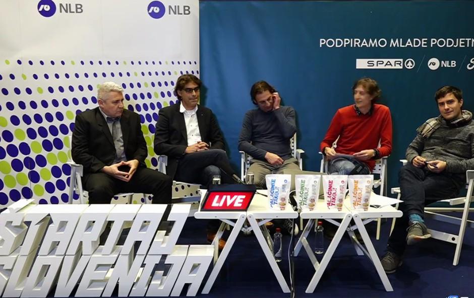 Aljaž Deu (Palačinke takoj!) z Matijo Goljarjem in gosti na Roadshow Live! (foto: Štartaj Slovenija Facebook)