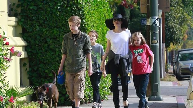 Angelina Jolie: Modrček je pustila doma! (foto: Profimedia)