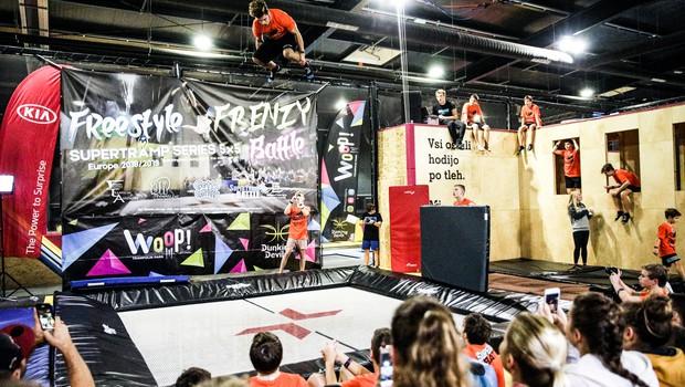 Navdušili na evropskem prvenstvu v freestyle trampolinanju! (foto: Miha Godnič)