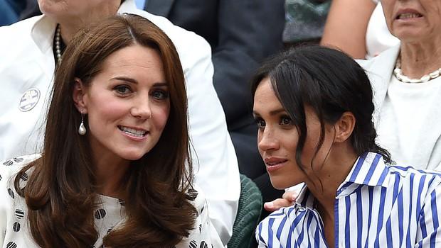 Poglejte, kako barvno usklajeni sta Meghan in Kate! (foto: Profimedia)